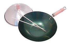 pre-seasoned carbon steel wok